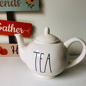 Rae Dunn White Tea Pot : TEA